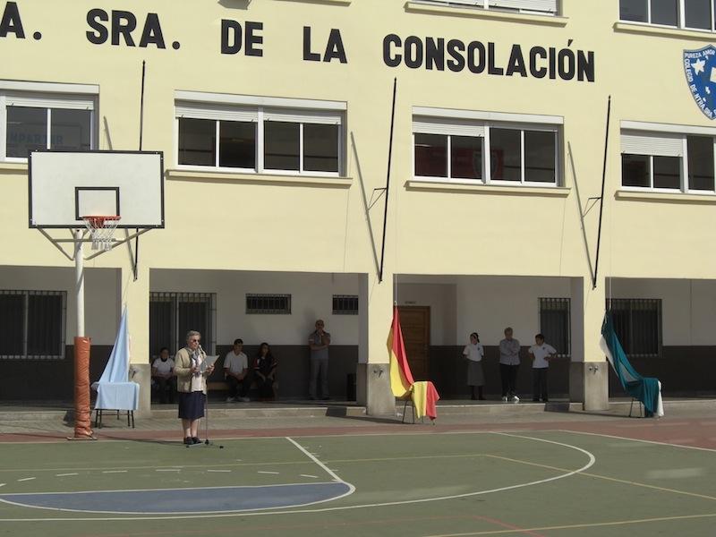 acto de inauguración con los alumnos