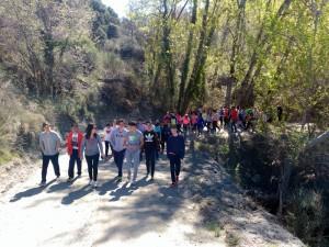 Inicio de la marcha hacia el pantano de Quéntar