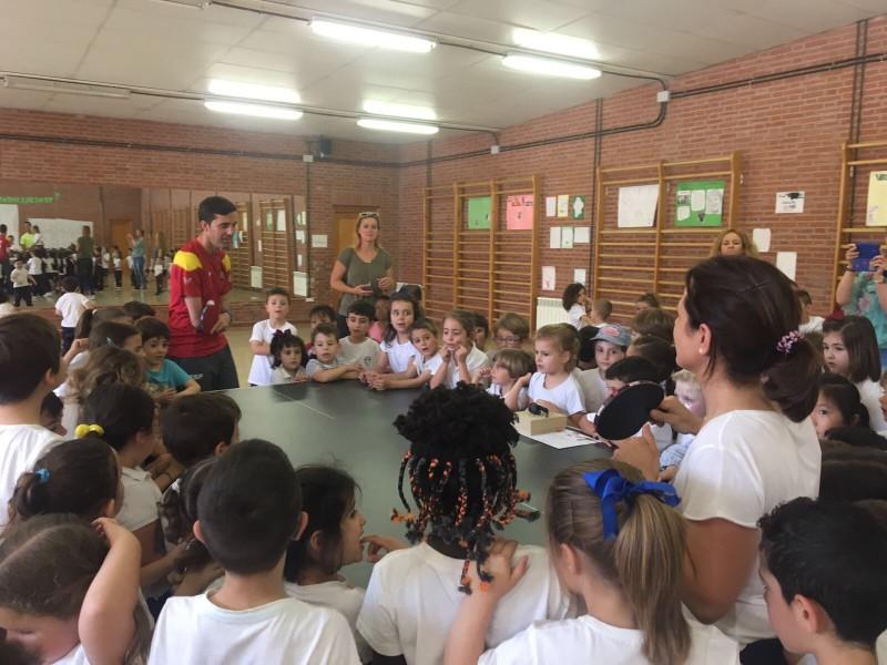 Visita olímpica en Educación Infantil