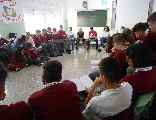 Visita del poeta Gustavo Álvarez