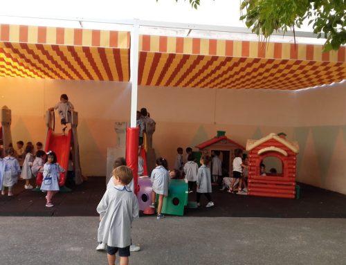 Instalación de toldo en el patio de Infantil