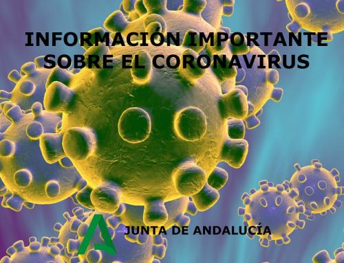 Información importante sobre el coronavirus