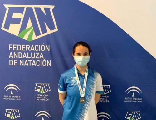 Cristina Henanz Yáñez consigue medalla en el pasado XXXV Campeonato de Andalucía Infantil de Invierno de Natación