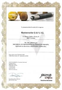 certificado restauración q&s